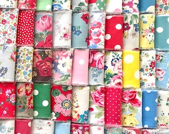 FQ Cath Kidston Fabric Material 50 X 50cm Blue Spot Sewing Patchwork Quilting