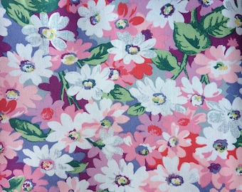 Cath Kidston, Painted Daisies, 100% Laminated Cotton Duck Fabric By The Metre