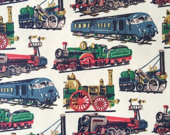 Cath Kidston, Trains, 100% Cotton Duck Fabric By The Metre