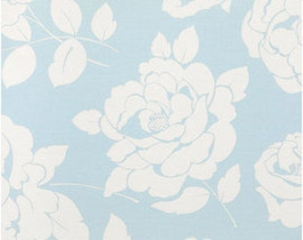 Cath Kidston, Mono Rose Blue, 100% Cotton Duck Fabric By The Metre