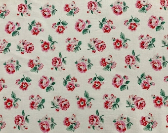 Cath Kidston, Ashdown Rose, 100% Cotton Duck Fabric By The Metre