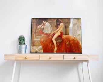 Great Horse Art On Canvas 1914 John Collier Lady Godiva