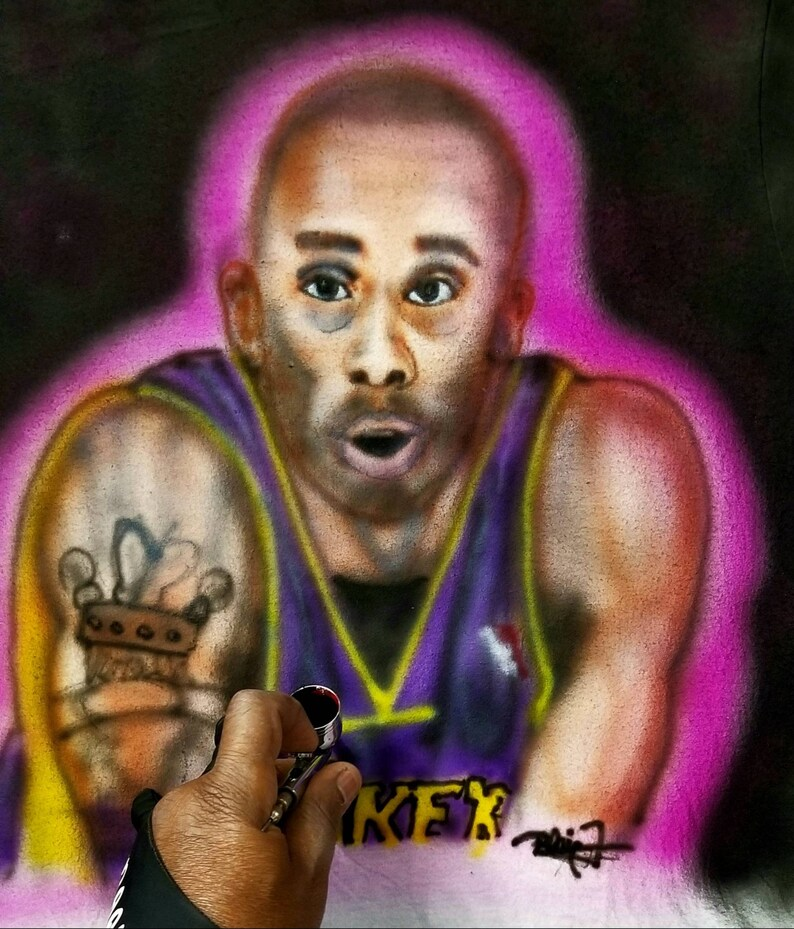 Airbrushed customized portrait Caricatures.