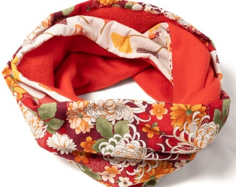 Snood Female Polar Red and Japanese Cotton