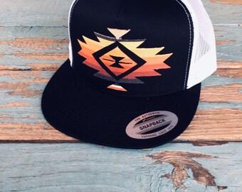 f536a7f214d Aztec Sunrise Unisex Flatbill Hat