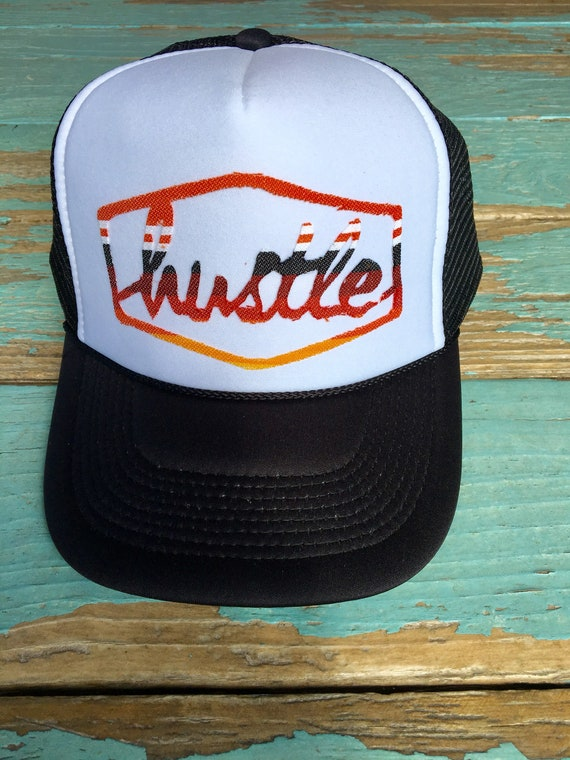 cf85278c94300 Hustle Hard Girl Serape Trucker Hat
