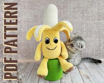 how to crochet a banana amigurumi- tutorial amigurumi in english ... | 270x340