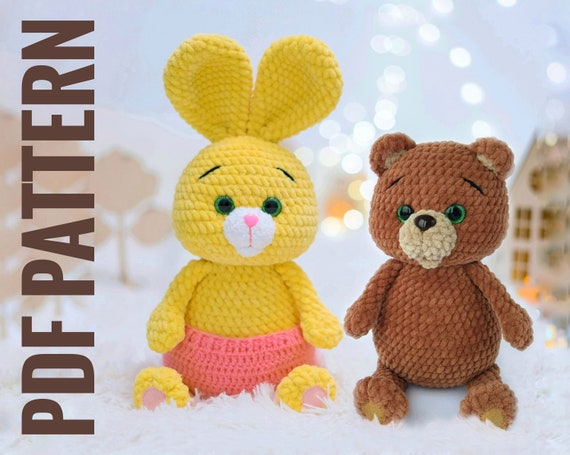 Adorable Crocheted Rabbit [FREE Crochet Pattern] | 455x570