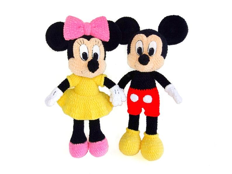 Mickey Minnie Mouse Disney Crochet Patterns Amigurumi Etsy