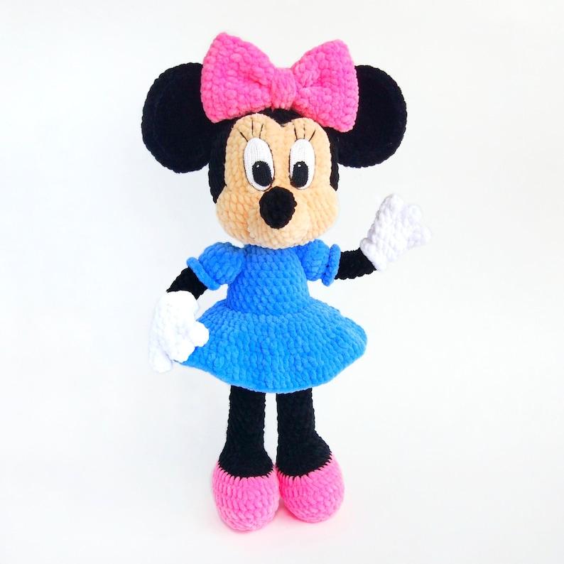 Minnie Mouse Amigurumi Pattern Crochet Disney Toy Pdf Etsy