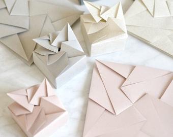 Origami Wedding Favor Box - Luxury Unique Custom Handmade Bomboniere, Gift Box for Wedding, Anniversary, Event, Celebration, Birthday, Party