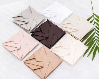 Origami Wedding Invitation Sleeve and Square Envelope - Luxury Unique Origami Invite for Wedding, Anniversary, Event, Celebration - Swirl