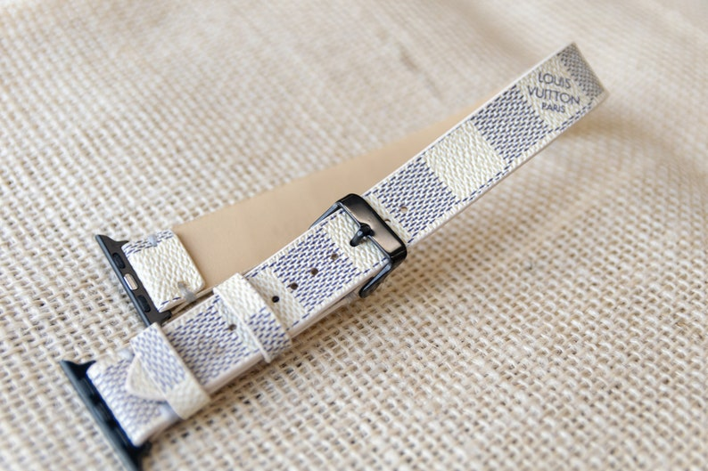 dcad48cd40 LV apple watch band Double Apple watch straps Lv Apple