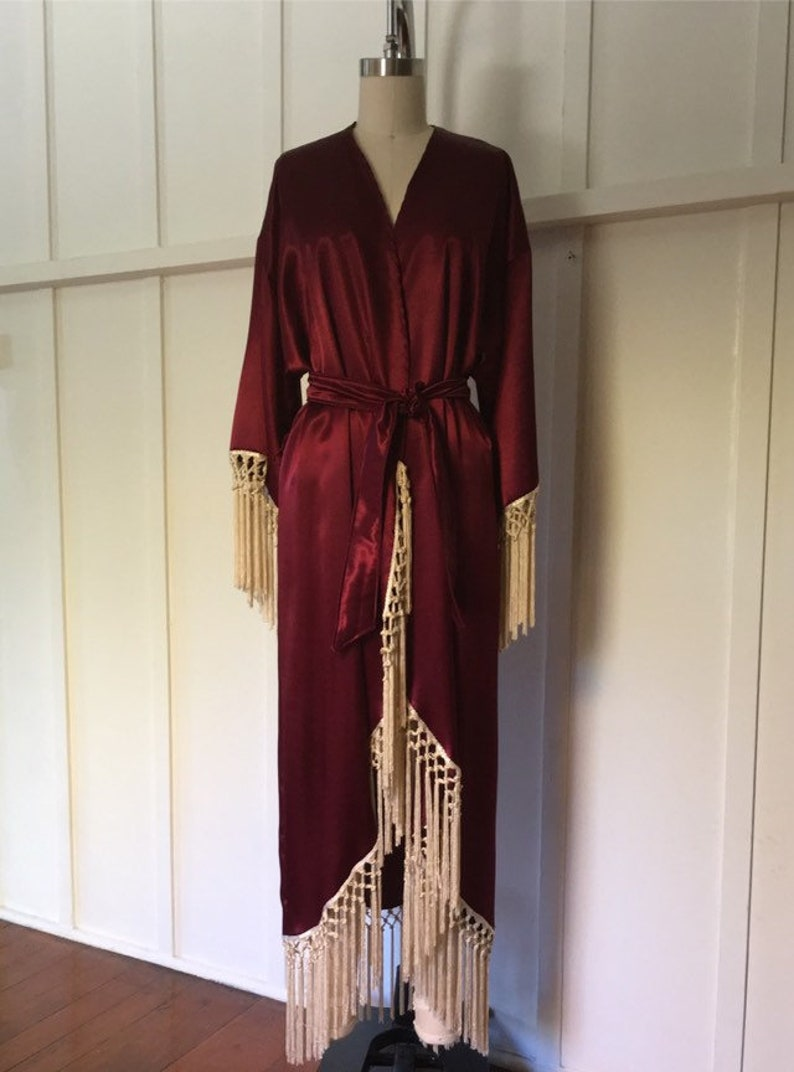 3b90481d86 Dahlia Bridesmaid Bridal Party Robe Burgundy Made to Order