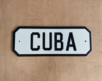 Colonial Street Plaque Numbers, Address Plaque, House Number, Address Sign, HDPE Plastic Weather-Resistant, Horizontal Only