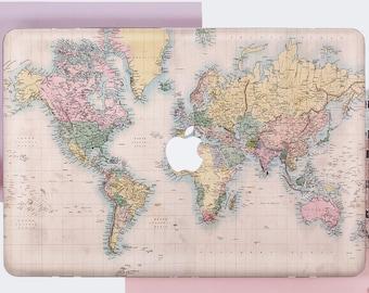 World map mac case etsy macbook world map case macbook pro retina case macbook pro 13 hard case map macbook pro 15 case macbook air 11 case keyboard cover de0036 gumiabroncs Gallery