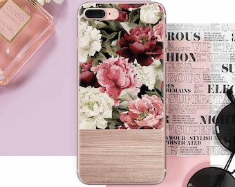 Pions IPhone Case Wood 8 Flowers Plus 7 6S DE0051