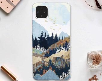 Forest Google Pixel 4A XL Case Pixel 3A TPU Cover Nature Pixel 4 Case Google Pixel 2 Case Pixel 3A Cover Mountains Google Pixel 4A DE0480