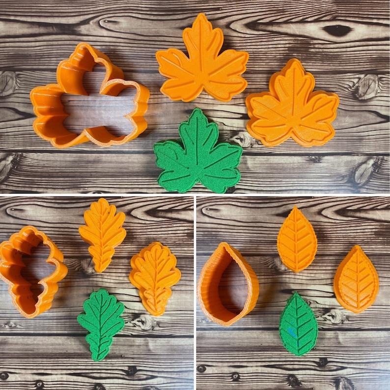 Fall Leaves SET Bath Bomb Mold Press