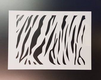 Zebra And Tiger Stripes Wall Art StencilStrongReusableRecyclable