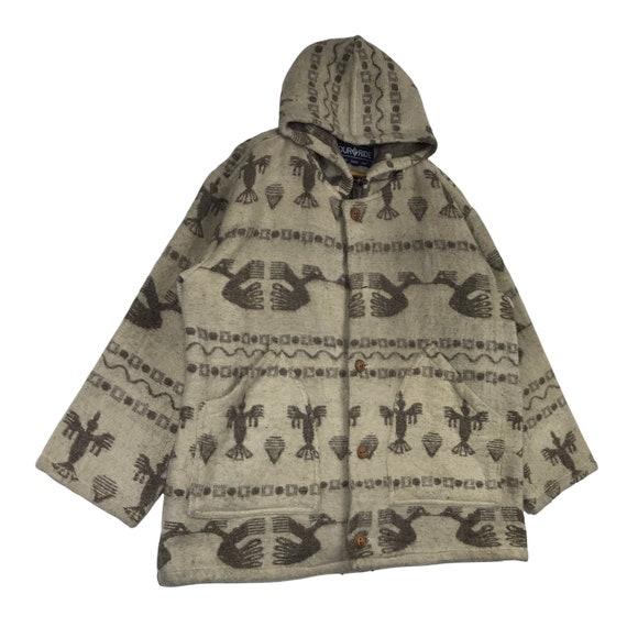 Vintage Navajo Native Chimayo Thunderbird Wool Ho… - image 6