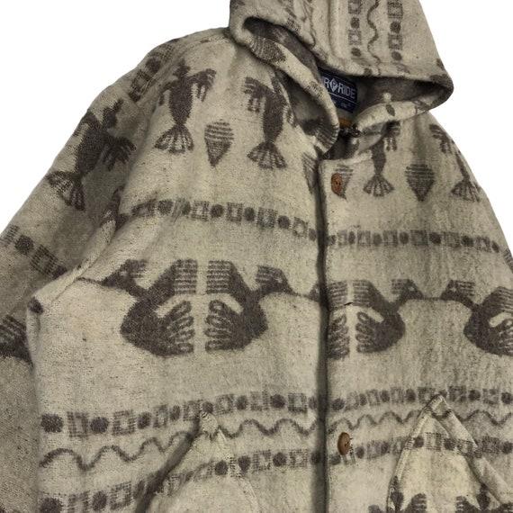 Vintage Navajo Native Chimayo Thunderbird Wool Ho… - image 4