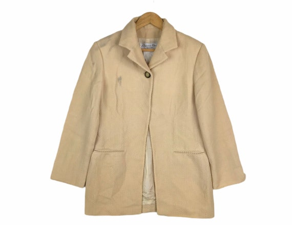 Vintage Christian Dior Coat Jacket One Button