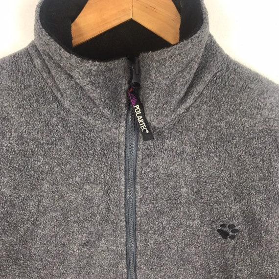 Jahrgang Jack Wolfskin Polarsystem Outdoor Sportswear kleine Logo Reißverschluss Fleece Pullover Pullover Pullover Pullover