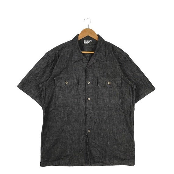 Japanese Brand Depleted Workwear Button Up Denim S