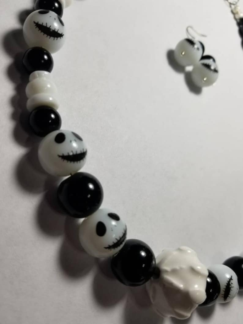 Nightmare before Christmas Jack glass necklace