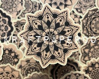 Mandala Stickers | Kraft Paper Stickers | Mandala | Journal Stickers | Planner Stickers | Scrapbook Supplies | Stationery | Mystery Pack