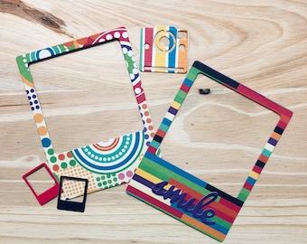 Polaroid Die Cut Frames | Die Cut Frames | Polaroid | Picture Frame | Embellishments | Junk Journal Supplies | Scrapbook Supplies