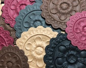 Embossed Medallions | Embossed Die Cuts | Embossed Paper | Scrapbook Supplies | Junk Journal Supplies | Crafts Supplies | Embellishments