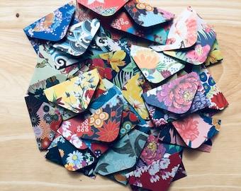 20 Tiny Envelopes | Envelopes | Scrapbook | Journal | Planner | Bujo | Stationery | Japanese Print | Scrapbook Supplies