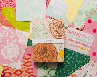 25 Assorted Journaling Cards | Scrapbook Supplies | Journal | Journal Supplies | Patterned Paper | Cards | Notecards | Stationery | Bujo