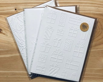 Embossed Card | Birthday Card | Christmas Card | Blank Card | Gifts | Presents | Embossed Greeting Card | Card & Envelope Set