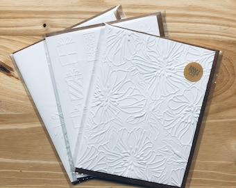 Embossed Card | Embossed Floral Card | Blank Cards | Birthday Card | Greeting Card | Invitations | Card & Envelope Set | 3D Card