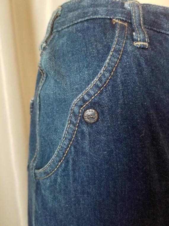 70s 80s vintage nest ce pas denim blue jean skirt… - image 10