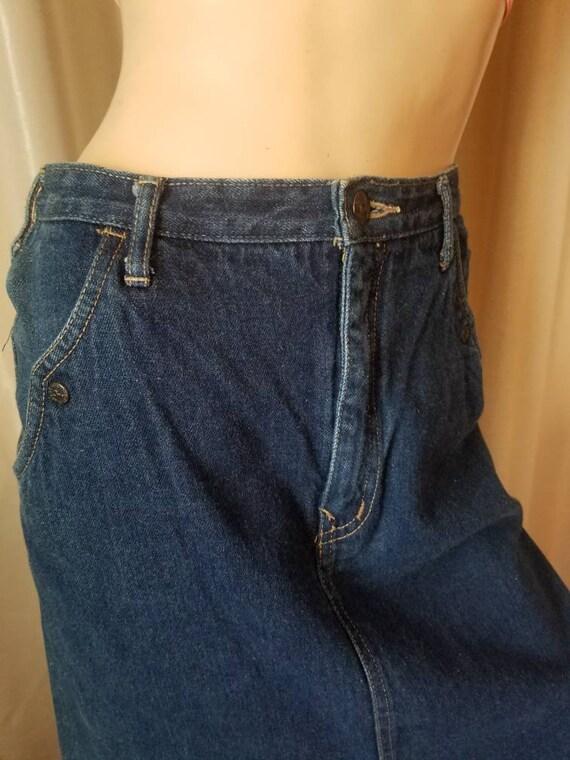 70s 80s vintage nest ce pas denim blue jean skirt… - image 5