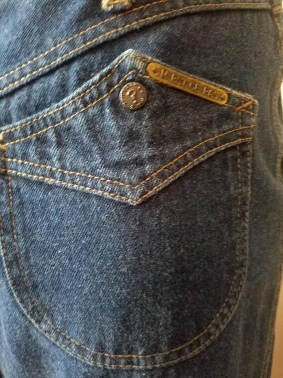 70s 80s vintage nest ce pas denim blue jean skirt… - image 8
