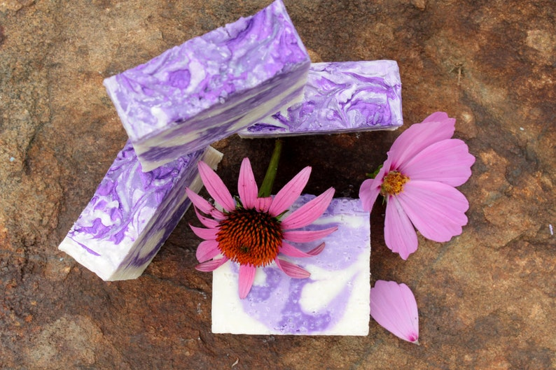 Natural Sea Salt Handmade Artisan Vegan spa Soap With Lavender image 0