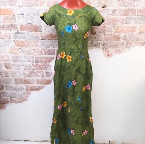 Vintage 1950's Hawaiian Tiki Dress Gown RARE - image 2