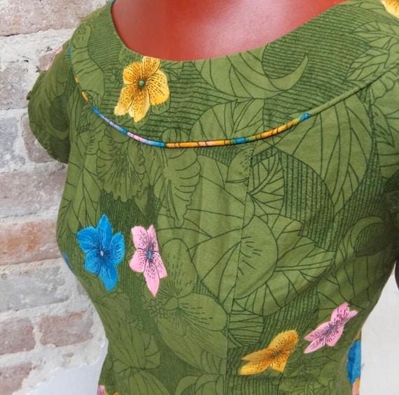 Vintage 1950's Hawaiian Tiki Dress Gown RARE - image 4