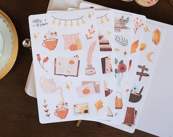 4 sticker boards + 1 offered Autumn 2021 for bullet journal, scrapbooking, card