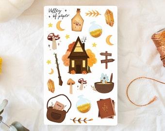"Sticker board ""Autumn Tale"" for bullet journal, scrapbooking, art journal, card"