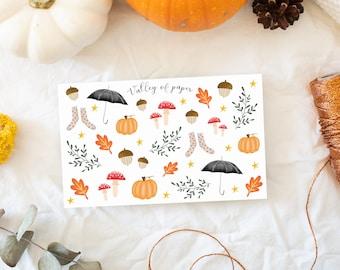 "Stickers ""Autumn sweetness"" for Bullet journal, scrapbooking, planner, carterie"