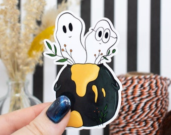 """Sticker """"Ghostly Cauldron"""" for computer, notebook, suitcase"""