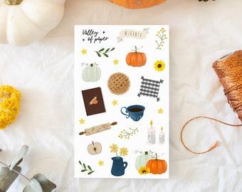 """Stickers """"Autumn Kitchen"""" for Bullet journal, scrapbooking, art newspaper, carterie"""