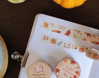 LOT 2 washis tape, autumn theme, for creative hobbies, bullet journal, card shop, scrapbooking, planner, art journal