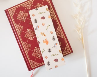 """""""Animals of the Forest"""" bookmark for books, notebook, decoration"""